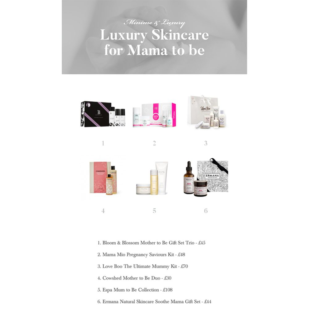 Luxury Skincare for Mama to Be