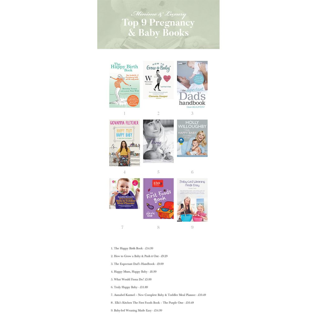 Top 9 pregnancy and baby books